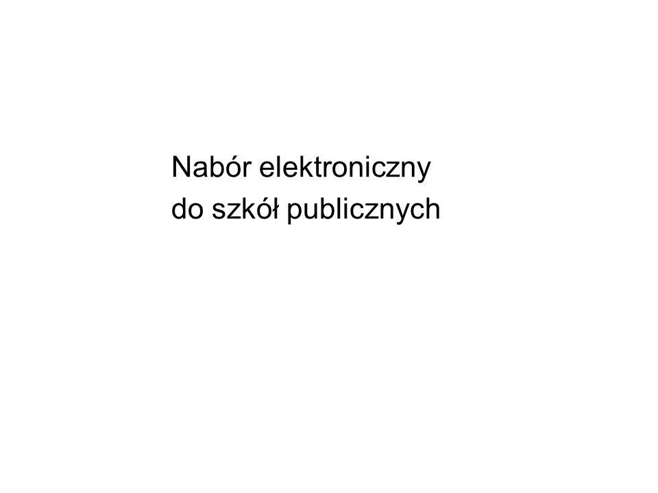 Nabór elektroniczny do szkół publicznych