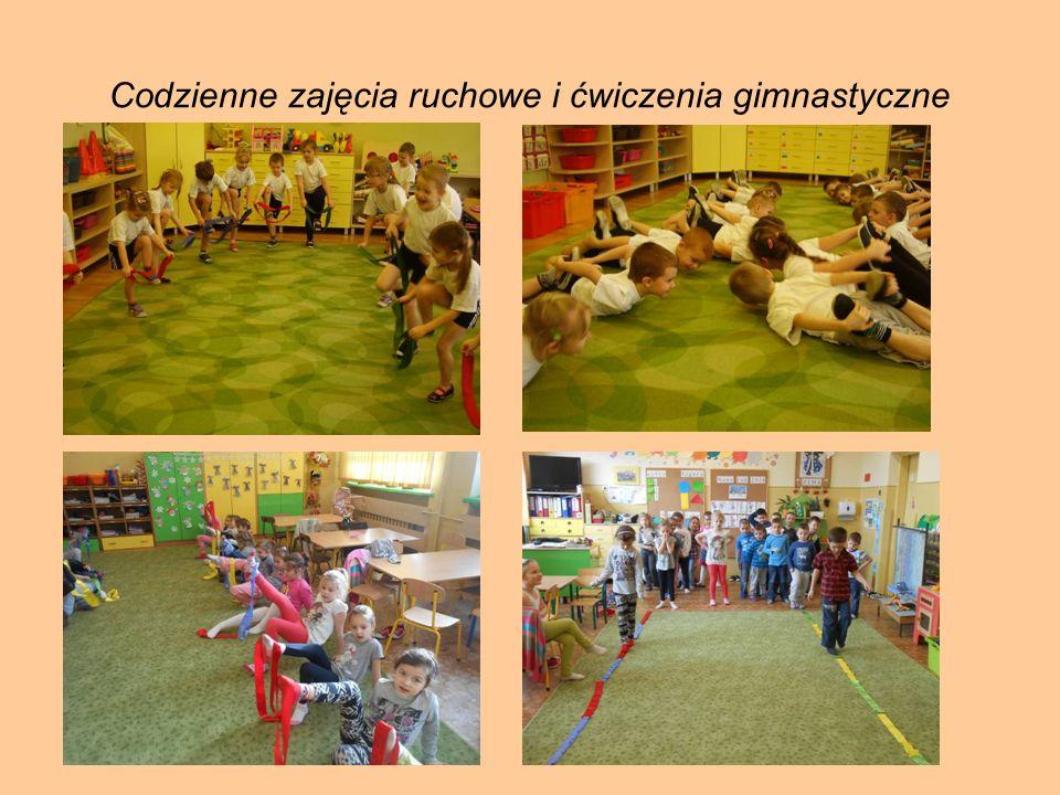 Codzienne zajęcia ruchowe i ćwiczenia gimnastyczne