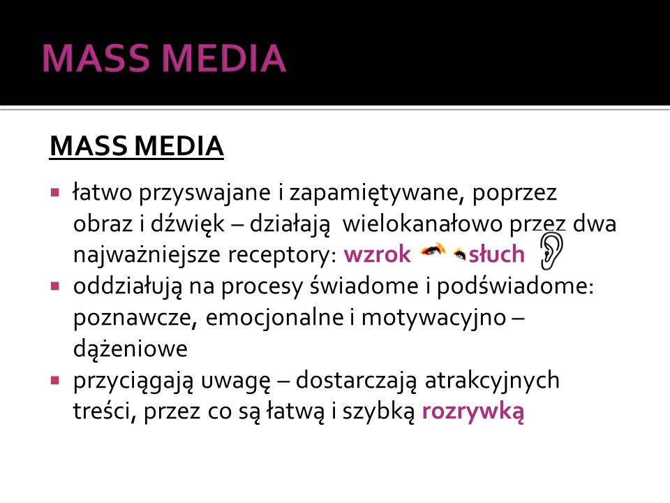 MASS MEDIA MASS MEDIA.