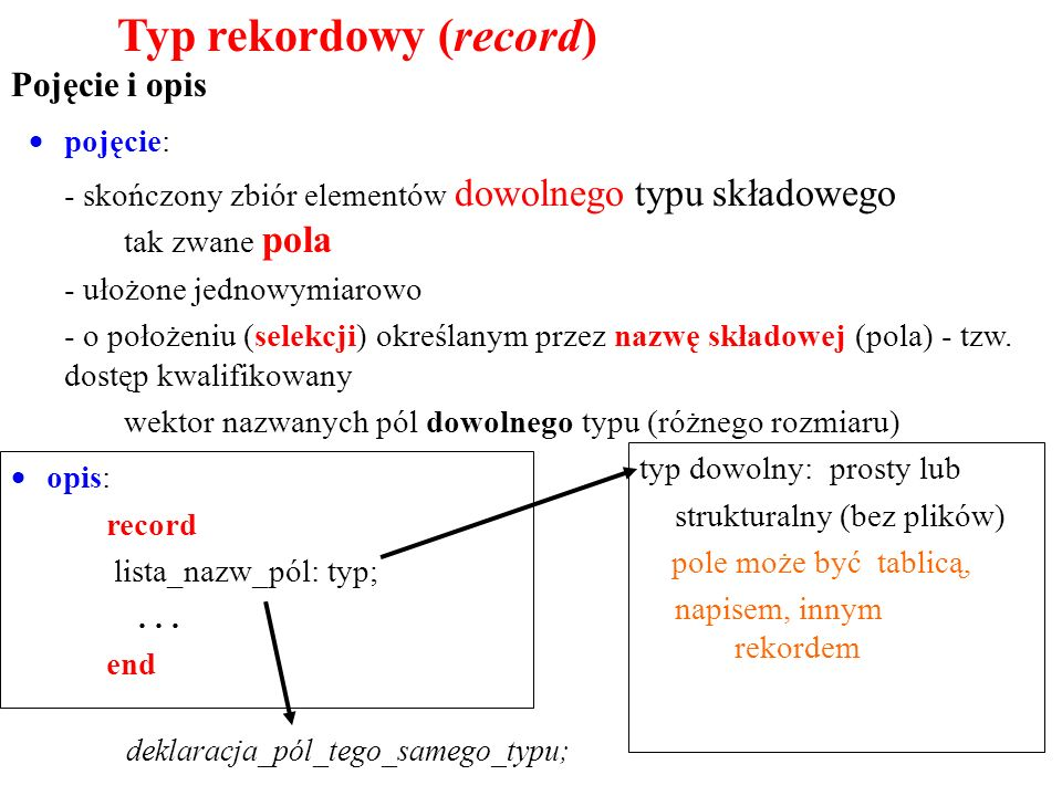 Typ rekordowy (record)