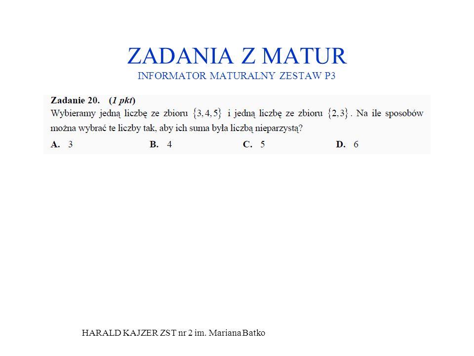 ZADANIA Z MATUR INFORMATOR MATURALNY ZESTAW P3