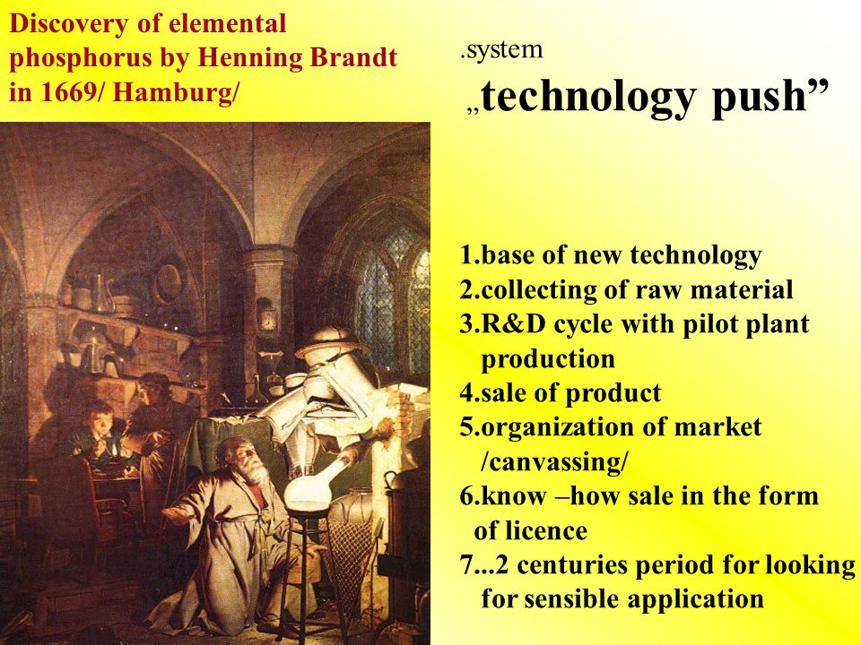 Discovery of elemental phosphorus by Henning Brandt in 1669/ Hamburg/