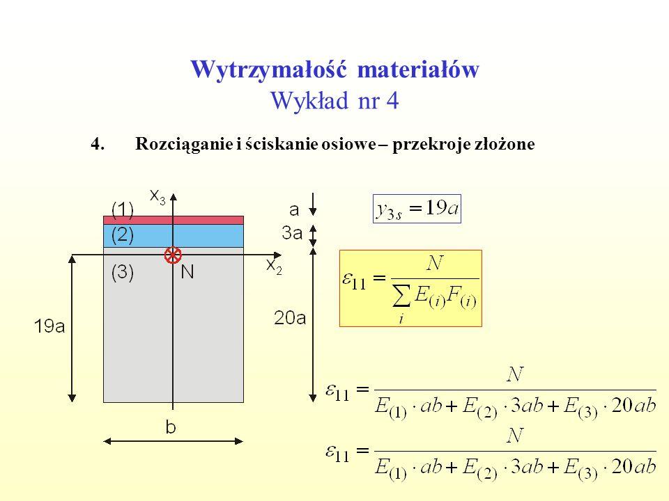 Wytrzymałość materiałów Wykład nr 4