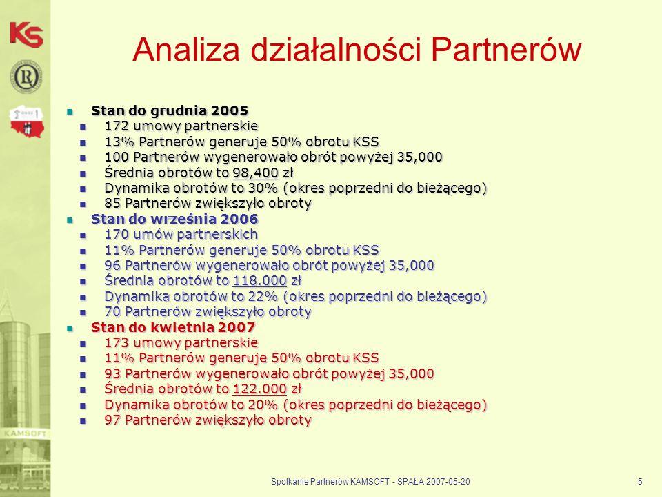 Analiza działalności Partnerów