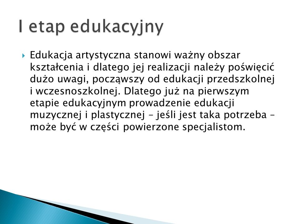 I etap edukacyjny