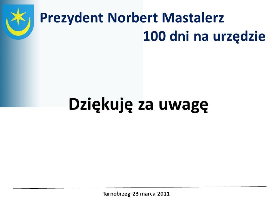 Dziękuję za uwagę Prezydent Norbert Mastalerz 100 dni na urzędzie