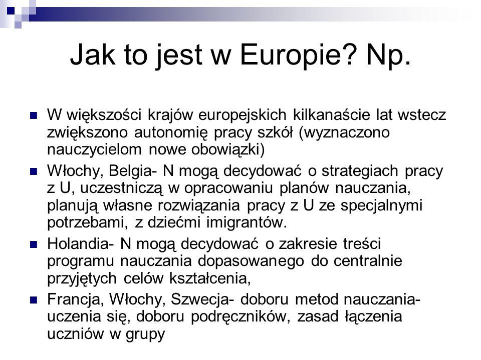 Jak to jest w Europie Np.