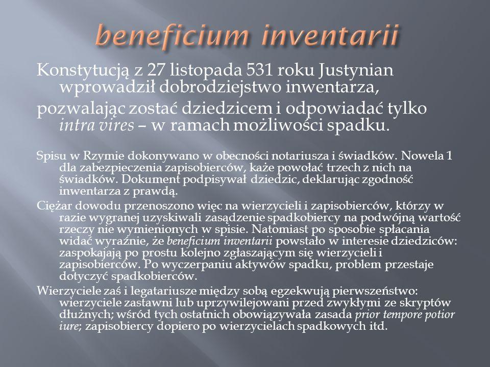 beneficium inventarii