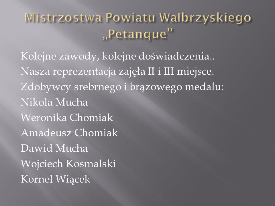 """Mistrzostwa Powiatu Wałbrzyskiego """"Petanque"""