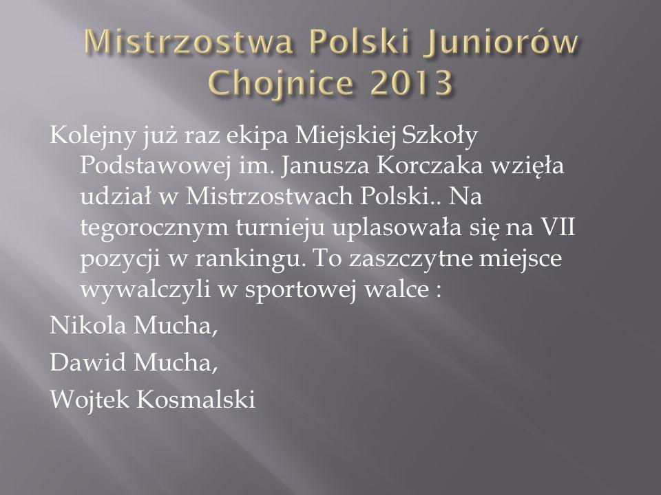 Mistrzostwa Polski Juniorów Chojnice 2013