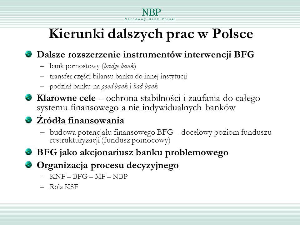 Kierunki dalszych prac w Polsce