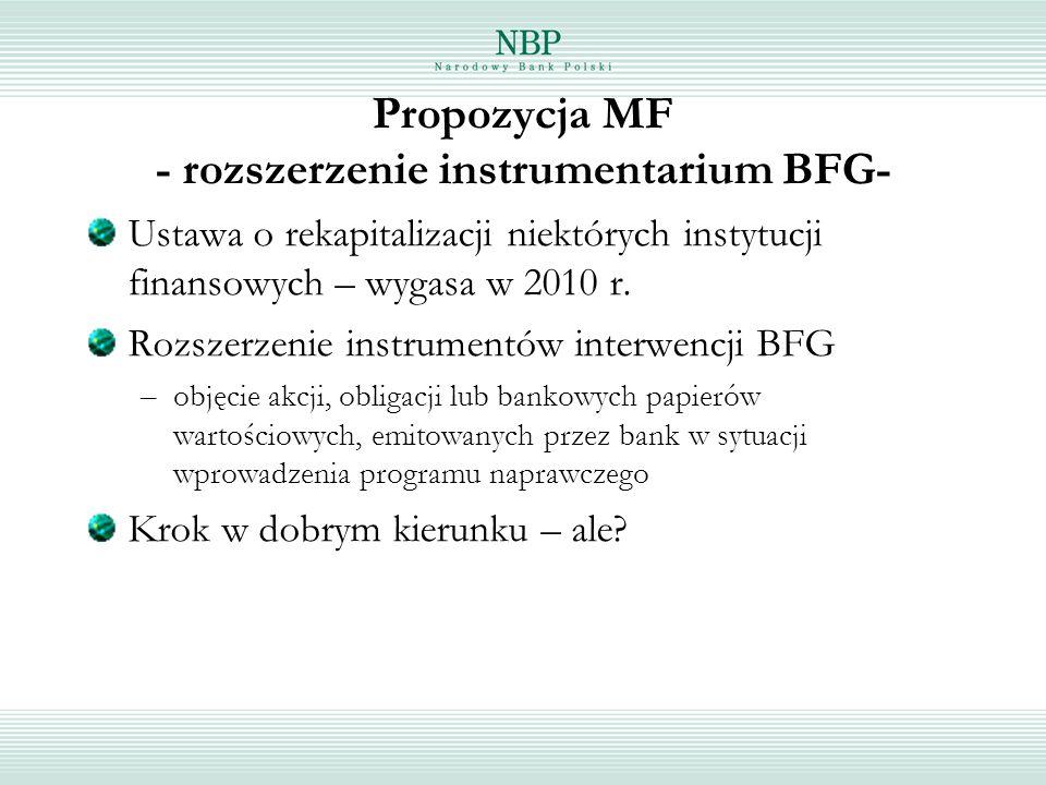 Propozycja MF - rozszerzenie instrumentarium BFG-