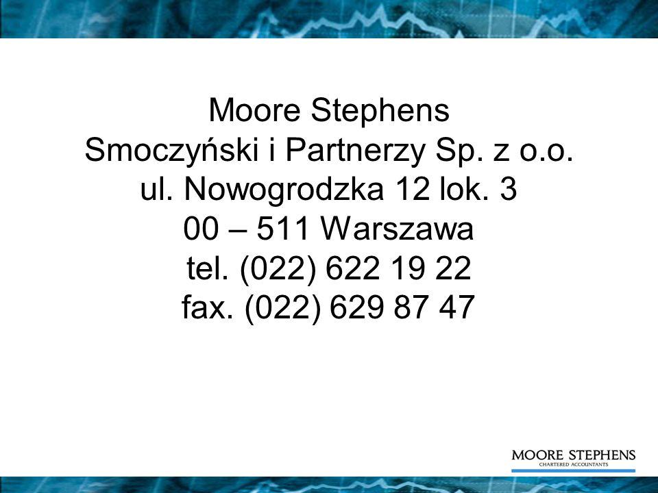 Moore Stephens Smoczyński i Partnerzy Sp. z o. o. ul