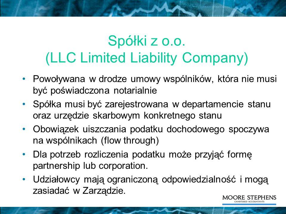 Spółki z o.o. (LLC Limited Liability Company)