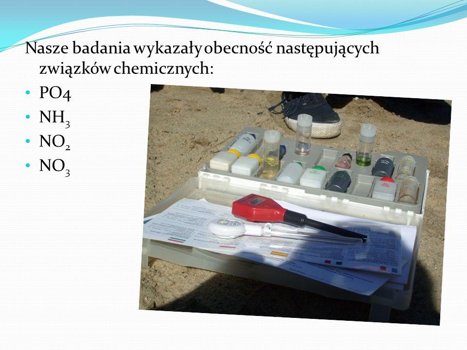 Nasze badania wykazały obecność następujących związków chemicznych:
