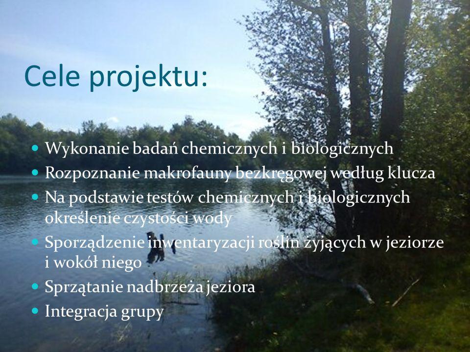 Cele projektu: Wykonanie badań chemicznych i biologicznych