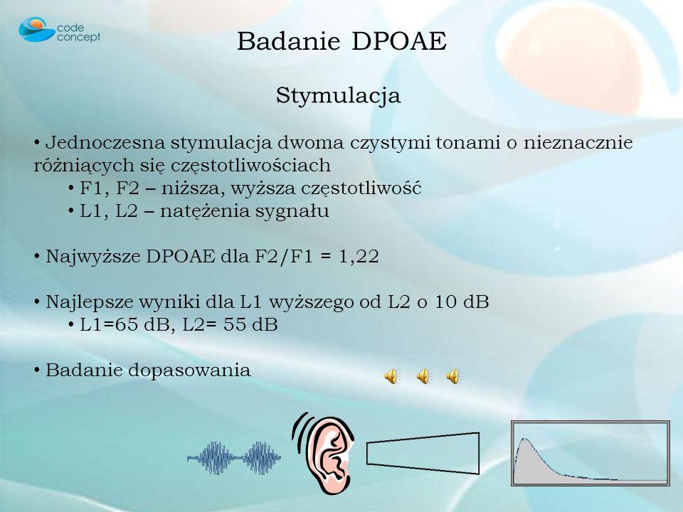 Badanie DPOAE Stymulacja