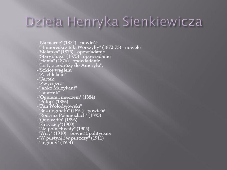 Dzieła Henryka Sienkiewicza