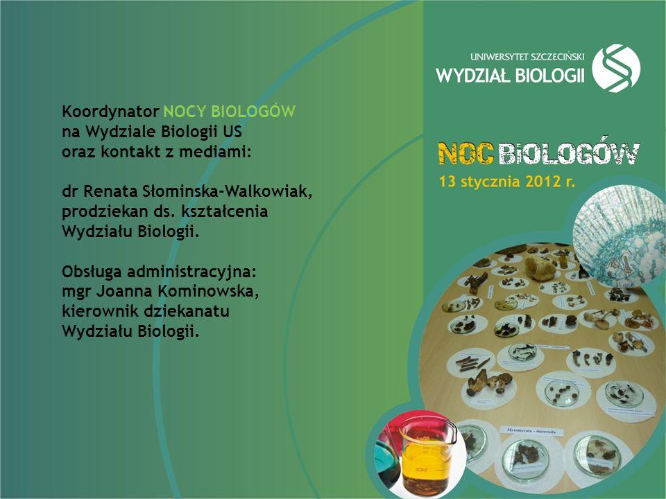 Koordynator NOCY BIOLOGÓW