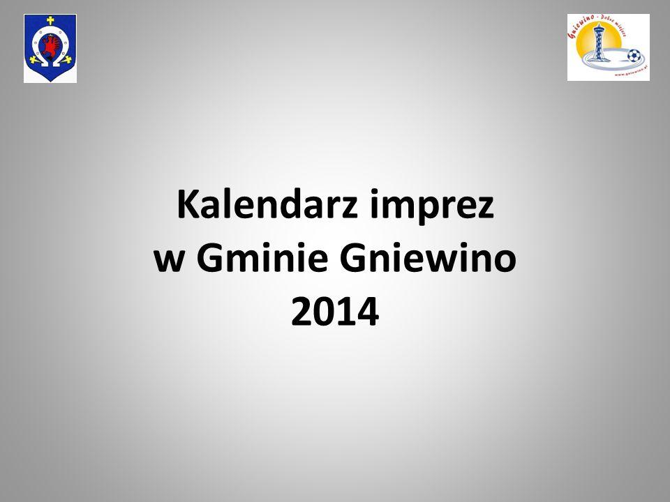 Kalendarz imprez w Gminie Gniewino 2014