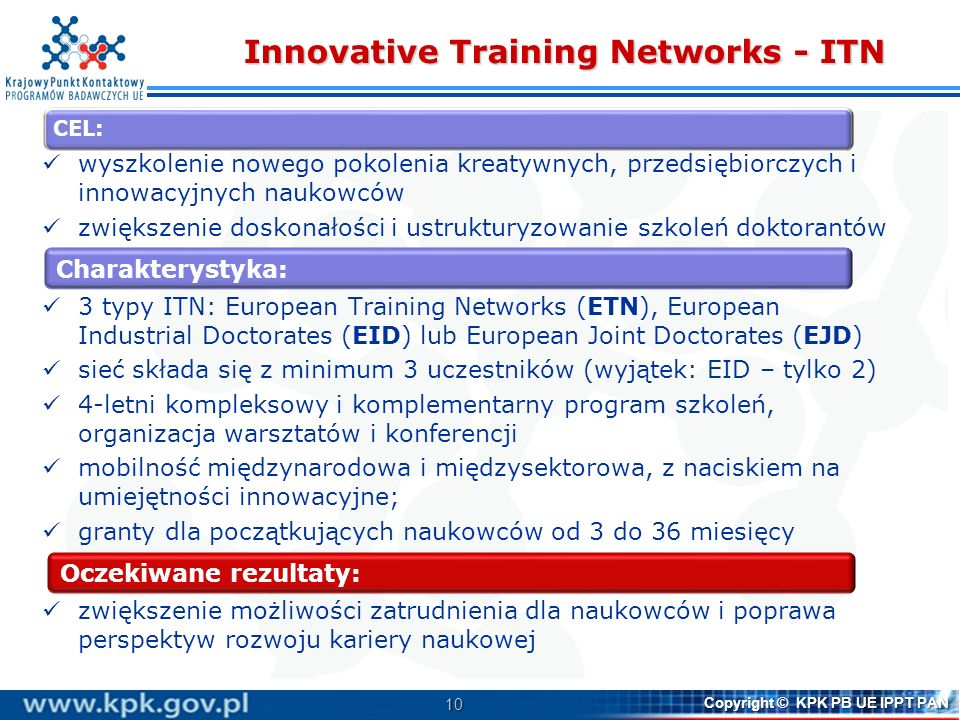 Innovative Training Networks - ITN