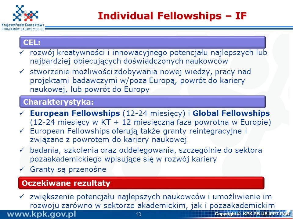 Individual Fellowships – IF