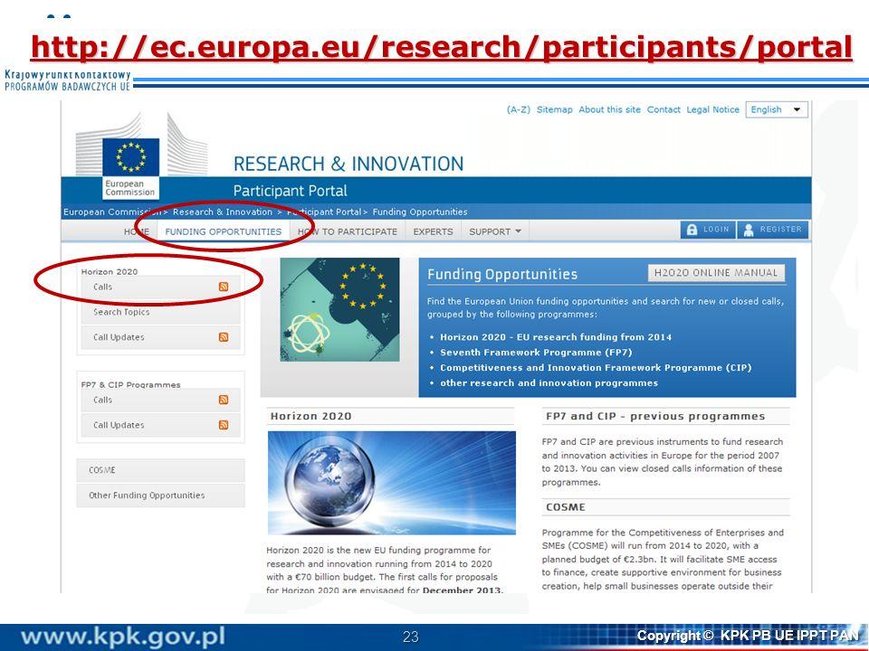 http://ec.europa.eu/research/participants/portal