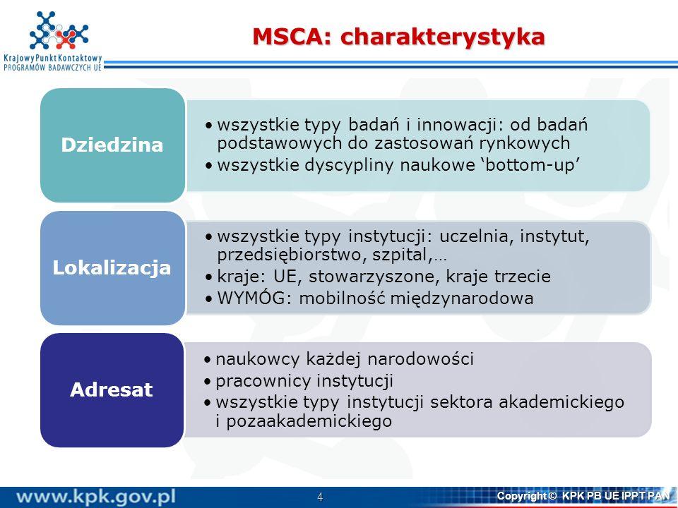 MSCA: charakterystyka