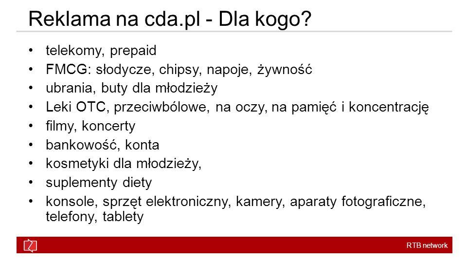 Reklama na cda.pl - Dla kogo