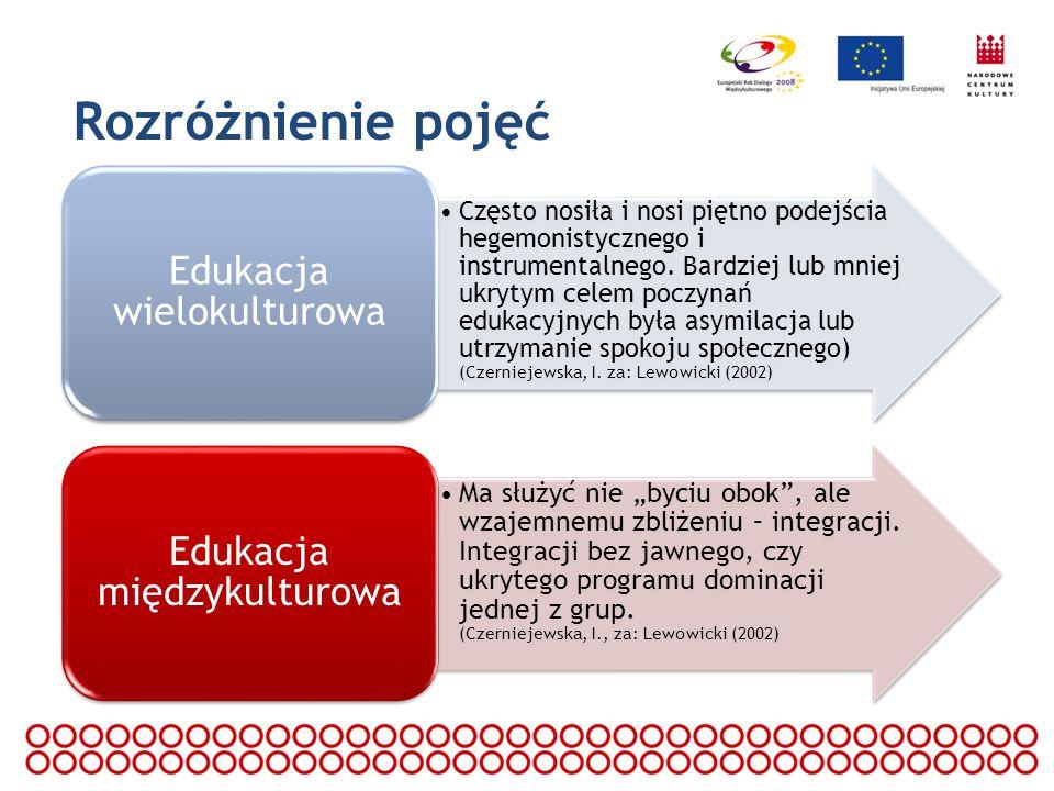 Rozróżnienie pojęć Edukacja wielokulturowa.