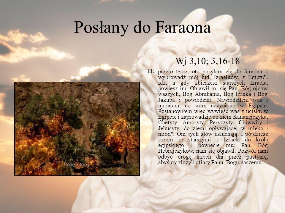 Posłany do Faraona Wj 3,10; 3,16-18