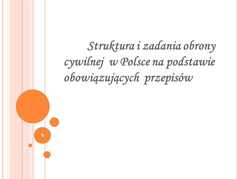 Struktura i zadania obrony cywilnej w Polsce na podstawie obowiązujących przepisów