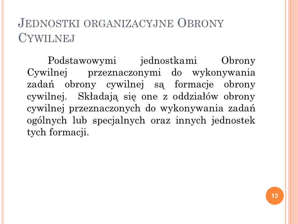 Jednostki organizacyjne Obrony Cywilnej