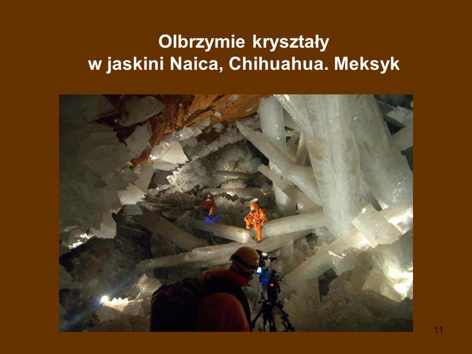 Olbrzymie kryształy w jaskini Naica, Chihuahua. Meksyk