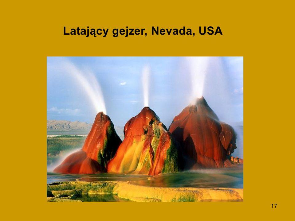 Latający gejzer, Nevada, USA