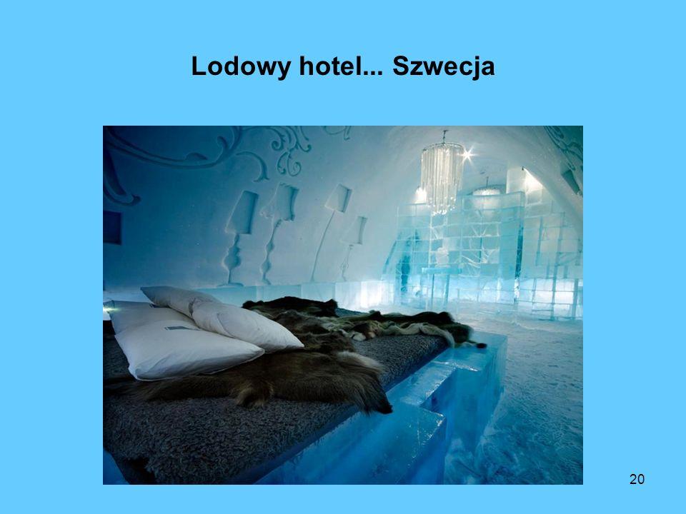 Lodowy hotel... Szwecja