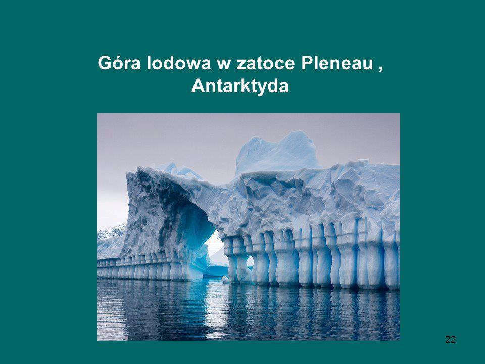 Góra lodowa w zatoce Pleneau , Antarktyda