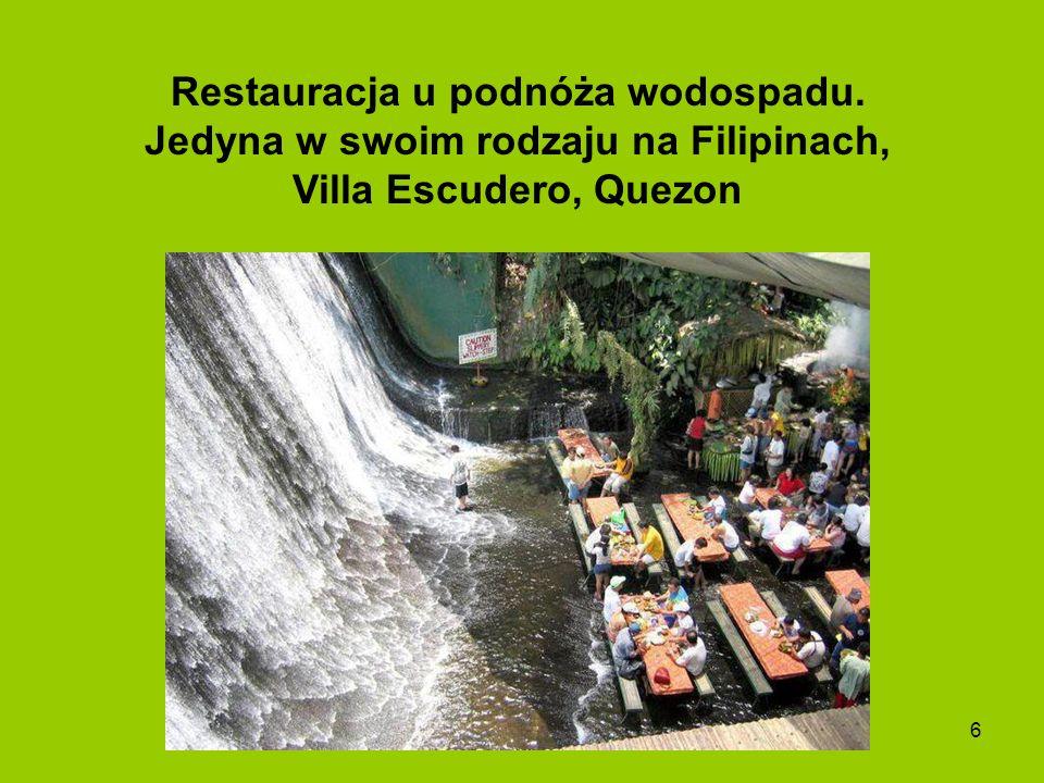 Restauracja u podnóża wodospadu