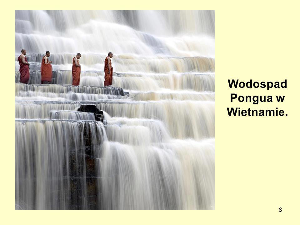 Wodospad Pongua w Wietnamie.
