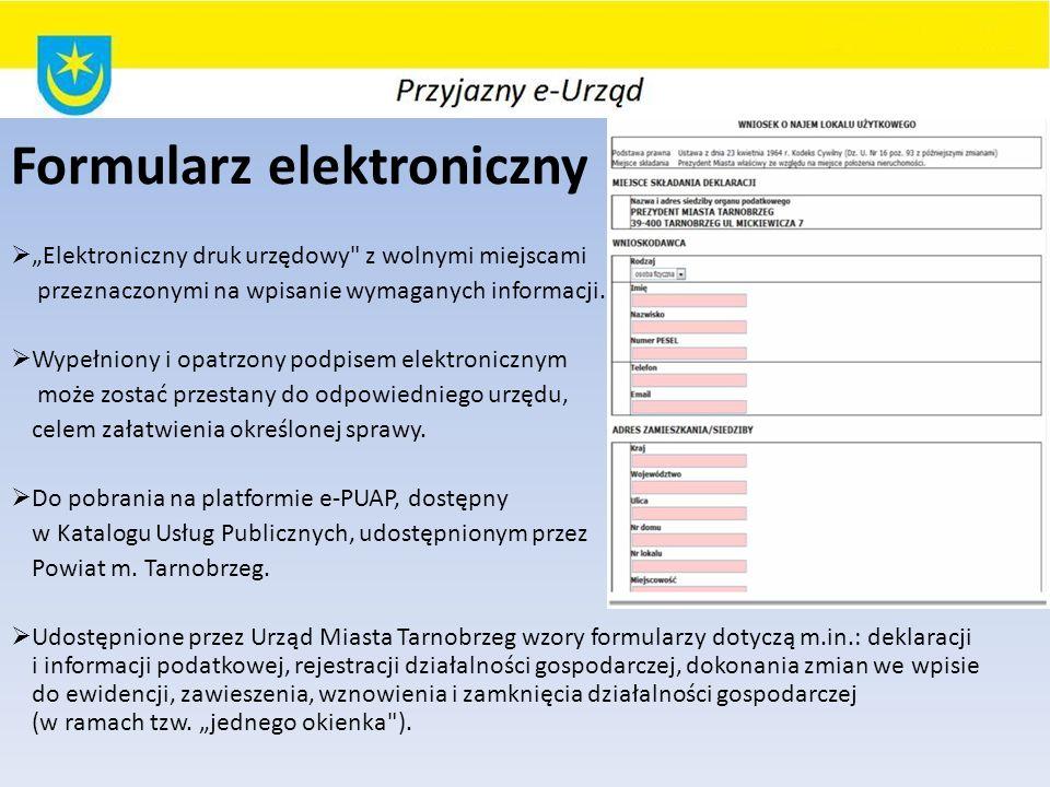Formularz elektroniczny