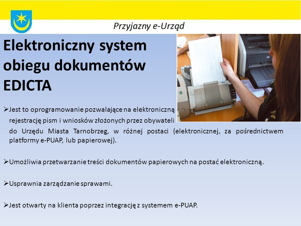 Elektroniczny system obiegu dokumentów EDICTA