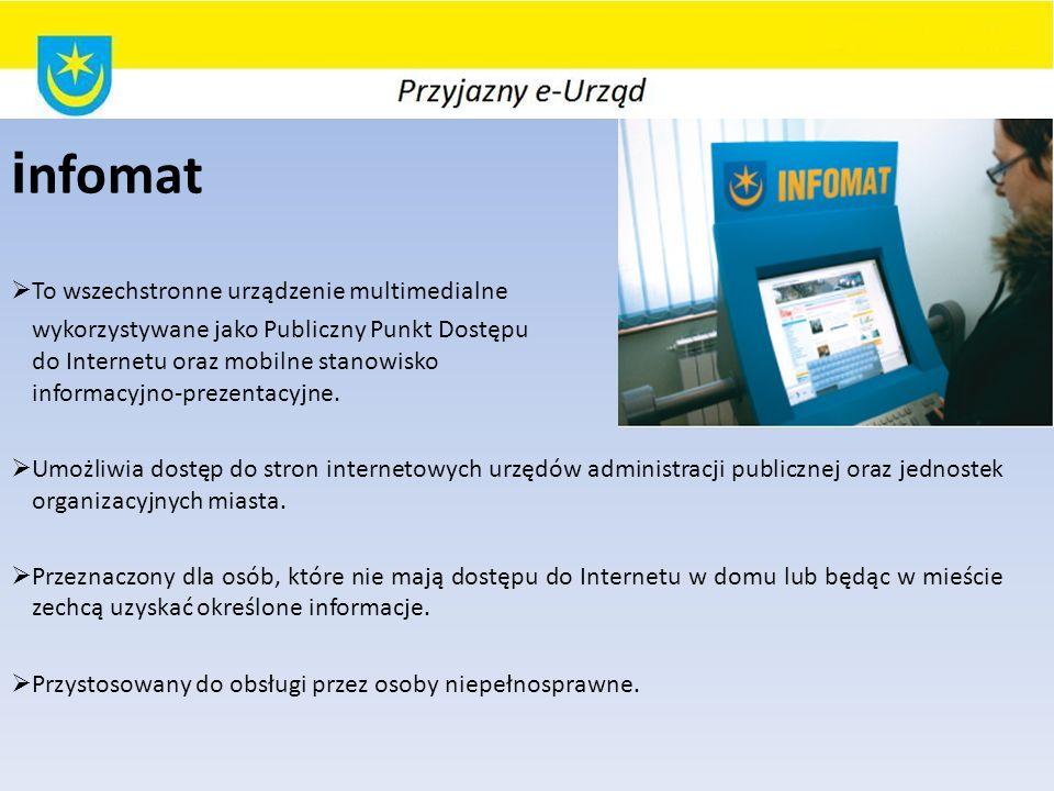 infomat To wszechstronne urządzenie multimedialne