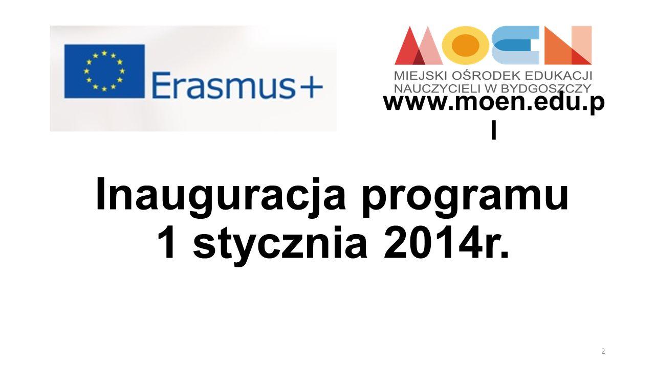 Inauguracja programu 1 stycznia 2014r.