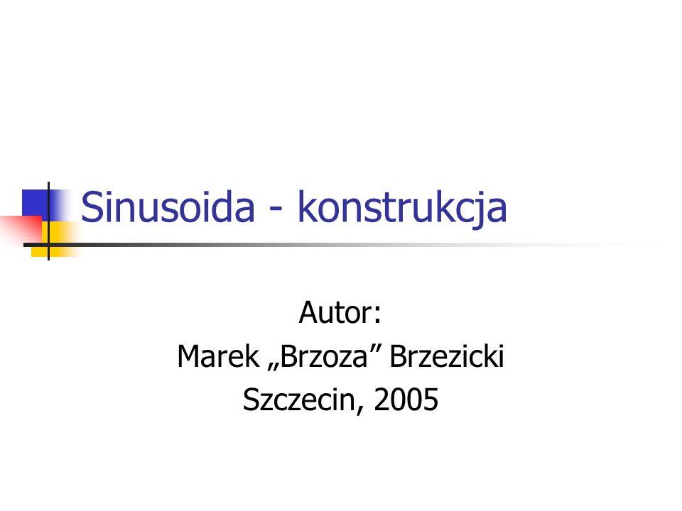 Sinusoida - konstrukcja