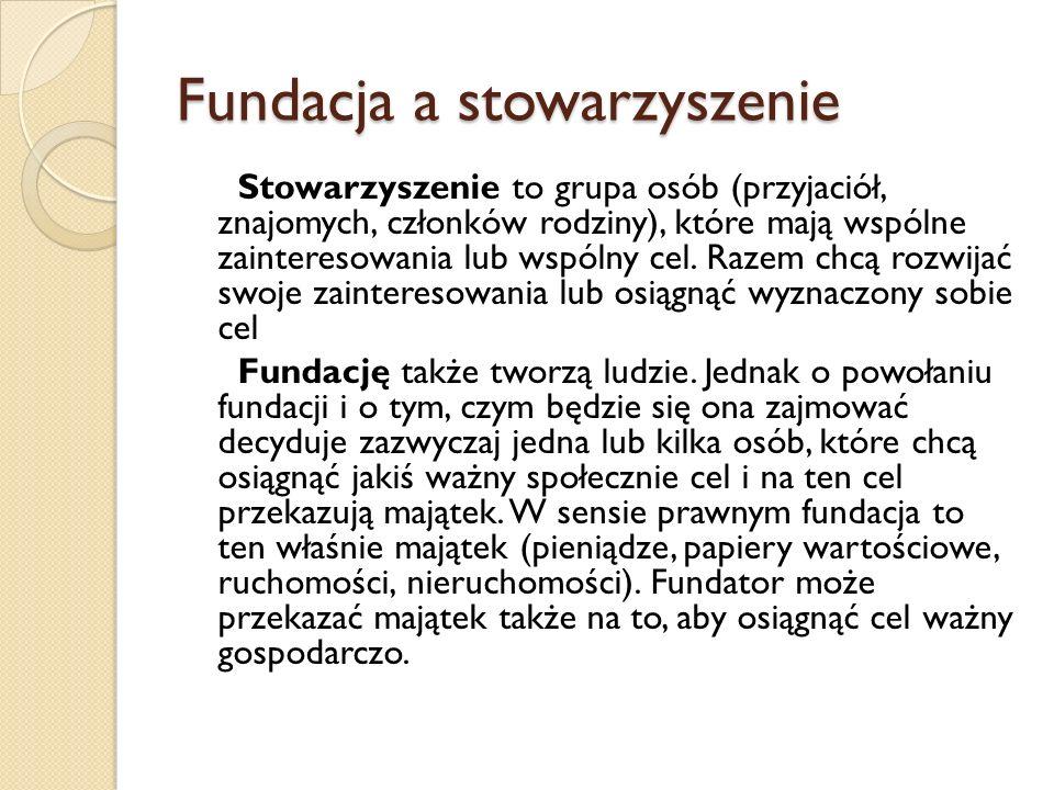 Fundacja a stowarzyszenie