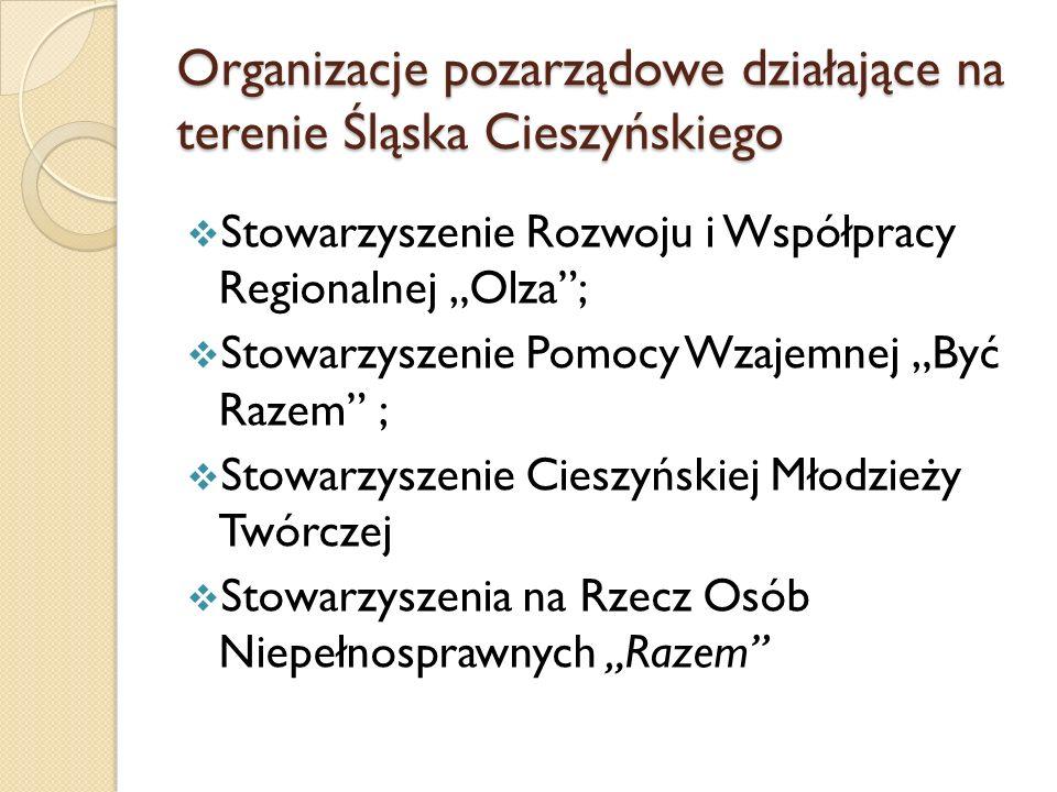 Organizacje pozarządowe działające na terenie Śląska Cieszyńskiego