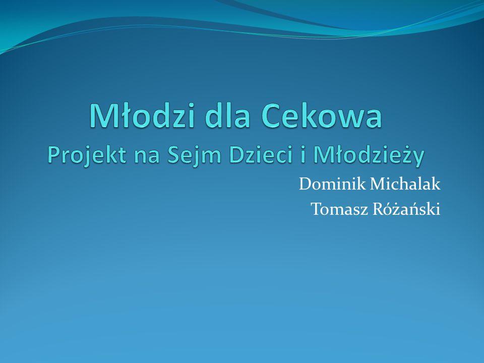 Młodzi dla Cekowa Projekt na Sejm Dzieci i Młodzieży