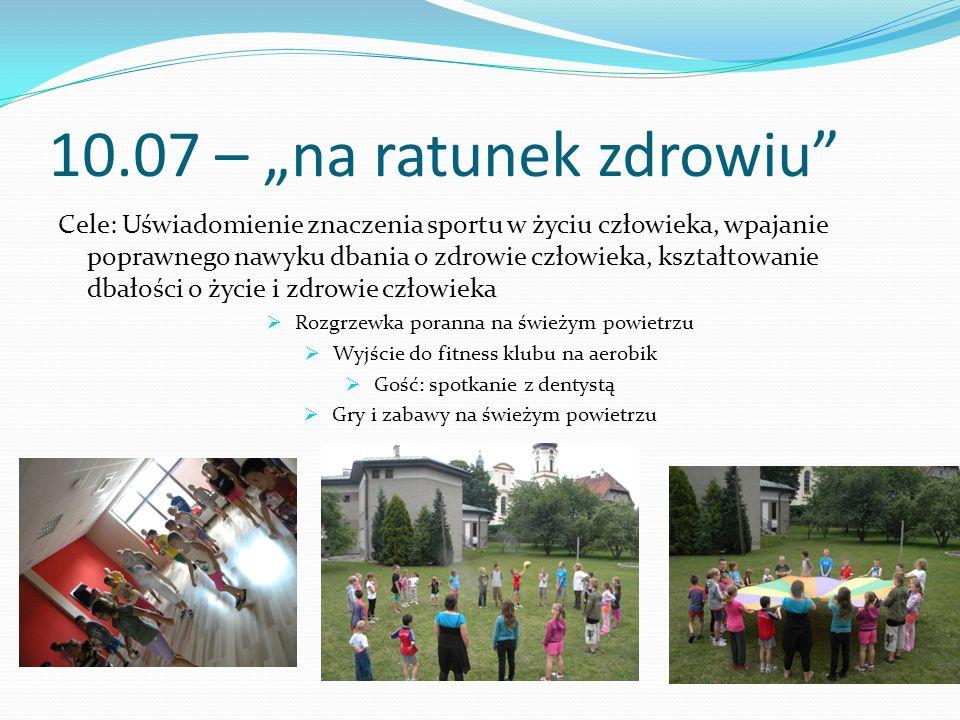 """10.07 – """"na ratunek zdrowiu"""