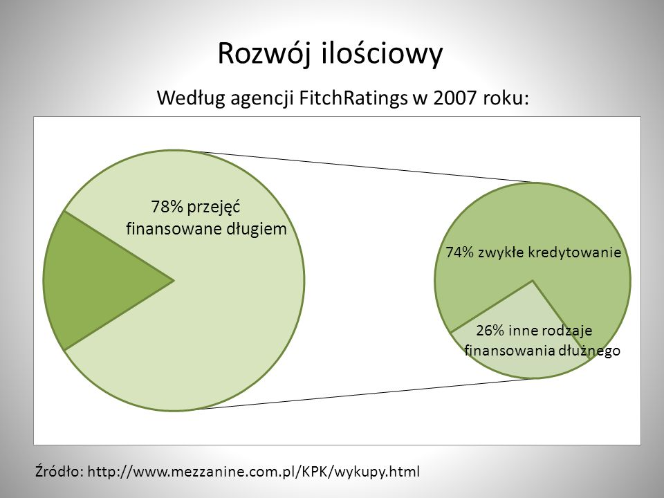 Według agencji FitchRatings w 2007 roku: