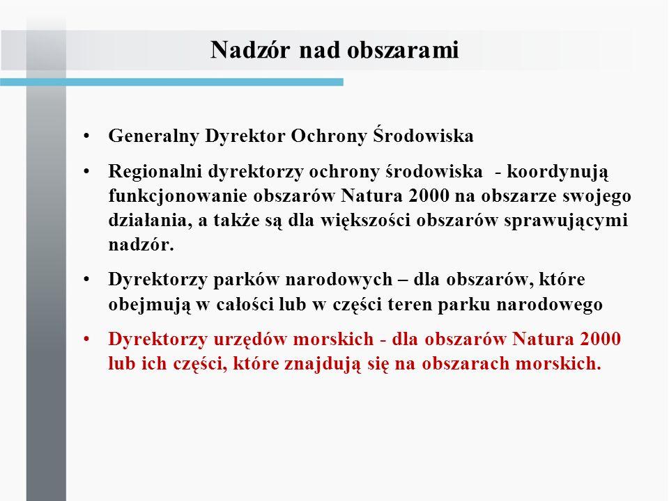 Nadzór nad obszarami Generalny Dyrektor Ochrony Środowiska